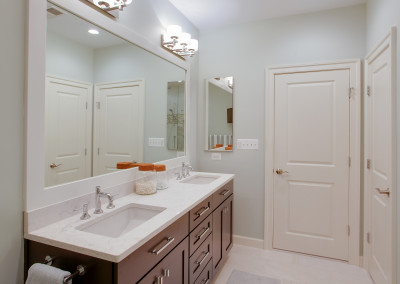 Bathroom remodel, home remodel, Northern Virginia remodel, bathroom design, granite countertops, white sink,